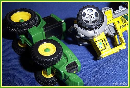 John Deere Vs.Yellow Tractor