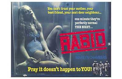 David Cronenberg Rabid Marilyn Chambers film poster top horror film review movie review