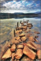 Loch Ard - Trossachs National Park - Scotland. (Devilineden) Tags: park morning water clouds canon reflections eos scotland dusk national loch dslr trossachs hdr ard photomatix d400 kinlochard