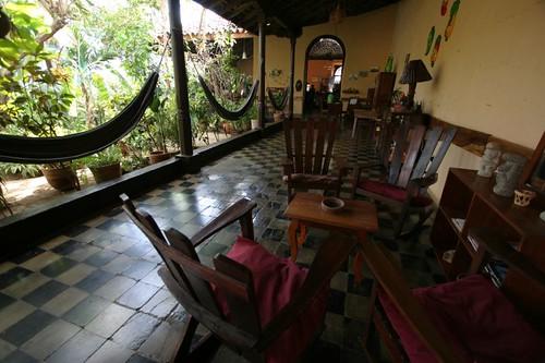 The great Viavia Hostel in León, Nicaragua.