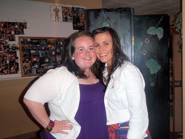 me & Kristen at Sakura