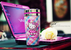 (D o u b l e y o u) Tags: pink white love office you hellokitty laptop sony mug vaio de~