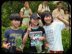 kids that helped us pick tea leaves (GenevieveLB) Tags: japan kids children japanese peace tea smiles greentea picking konichiwa teapicking greenteafeilds