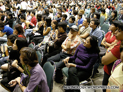 Packed conference hall