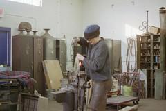 IMG026 (SmartShop Metal Arts Center) Tags: king steel kalamazoo cathy blacksmith metalworking smartshop blacksmithing hollyfisher lizdean