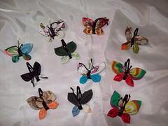 Tic Tac de.... borboletas! (Mar de flores) Tags: flowers flores fuxico yoyo fux croche fuxicos fuxicando crochetando fuxicaria fuxic