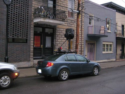 Google Street View car at 4095 Hotel de Ville (photo by Kyle MacDonald)