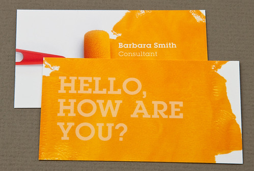 Home Maintenance Business Card with Paint Roller
