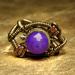 steampunk Jewelry Ring made by CatherinetteRings made with Glowing Purple CHALCEDONY (Catherinette Rings Steampunk) Tags: fiction canada fashion metal wire punk artist industrial purple mechanical quebec designer handmade montreal unique daniel victorian wrapped jewelry science bijoux retro steam ring jewellery rings fantasy copper scifi bead glowing sciencefiction organic etsy artisan geekery steampunk neovictorian futurist chalcedony proulx catherinetterings danielproulx