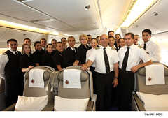 The Pope flight: EL AL's Boeing 777 flight crew (EL AL Israel's Airlines) Tags: pope aviation flights vatikan elal boeing777 elel    haimromano   flightattendence