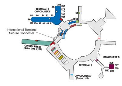 sfo terminal 3 on