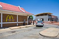 your bulldozer awaits (ezeiza) Tags: food oklahoma sign restaurant golden fastfood fast arches mcdonalds drivethru interstate 40 drivethrough goldenarches interstate40 sallisaw