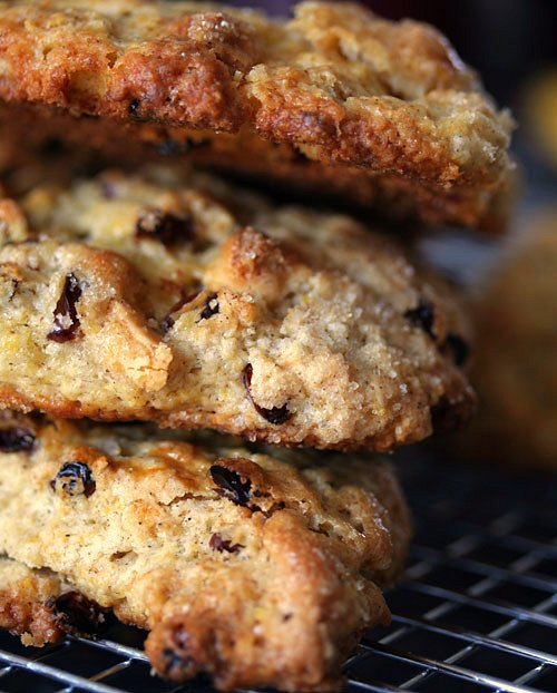 White Chocolate & Sour Cherry Scones - David Lebovitz