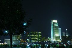 Omaha Skyline (laughlinc) Tags: skyline night omaha nikond80 thechallengefactory laughlinc