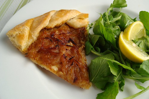 Free-Form Onion Tart