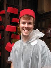 ian wearing a fez in morocco