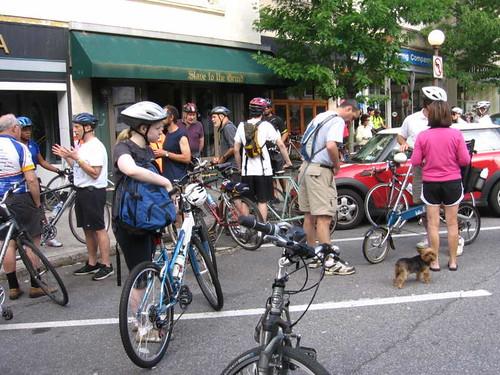 Bike tour start