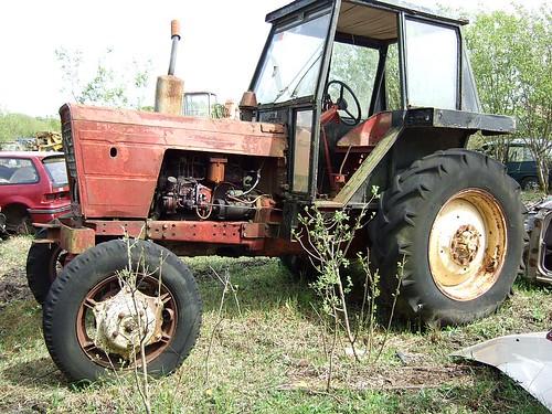 An old Belarus 4 wheel drive tractor