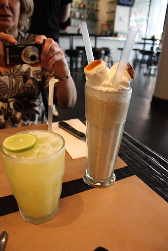 Fresh pineapple-lime soda and Marshmellow shake