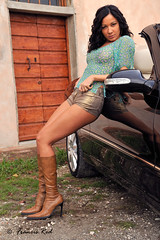 Elena car girl #4 (Francis_Red) Tags: look car fashion photography mercedes photo model glamour nikon elena brunette d3 hotpants