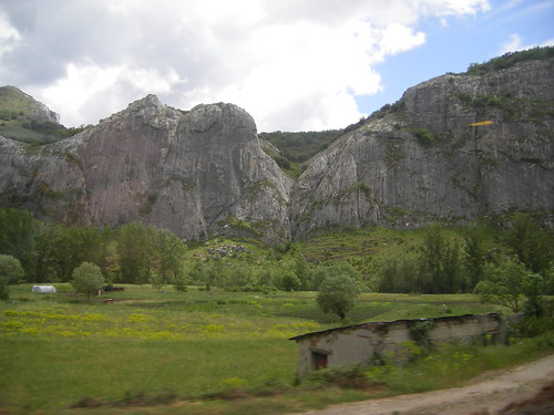 Vista do comboio entre Oviedo e Leão