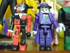 Harley & Joker (daianeohare) Tags: comics joker dccomics harleyquinn quadrinhos coringa minimates arlequina