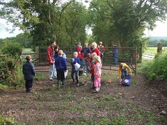 Mountsorrel Boys Brigade exploring the site of the old level crossing