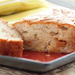Banana Souffle Cake with Dulce de Leche