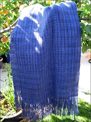 Mas=Acero Shawl in the morning sun