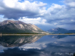 Song Sung Blue (DeVaughnSquire) Tags: canada mountains clouds reflections ngc alberta rockymountains canmore wmp devaughn vosplusbellesphotos albertaparks devaymarie scenicalberta