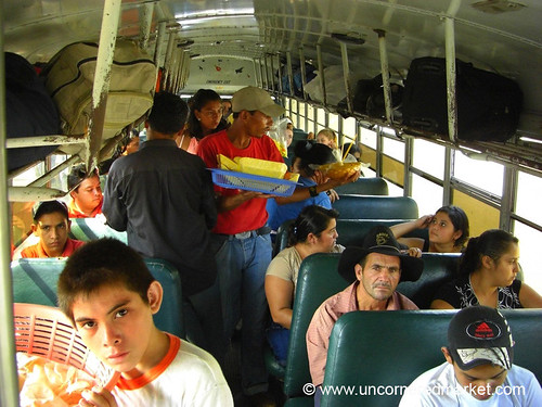 People on Bus in Honduras