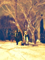 Magia (Garabatera) Tags: madrid espaa snow laura night noche oscar spain alicia nieve coslada