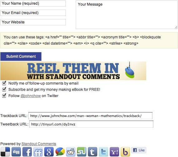 Standout Comments Plugin