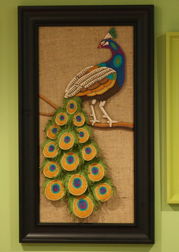 Peacock yarn art