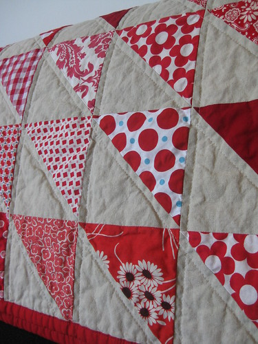 seeing red quilt detail a