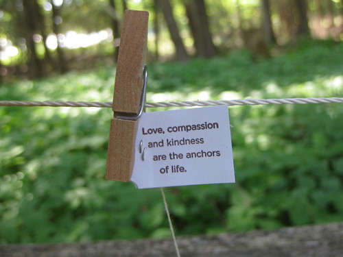 Love, compassion and kindness are the anchors of life