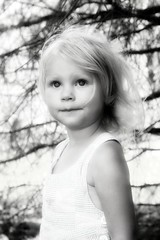 Sarah Belle (@}ARosePhotos~~) Tags: blackandwhite baby white black girl sarah kid toddler child daughter adorable precious belle ageofinnocence aoi instantfav amberrosephotography