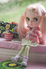 afternoon reading time (JennWrenn) Tags: cookies doll juice blythe rement picturebook mim stellasavannah