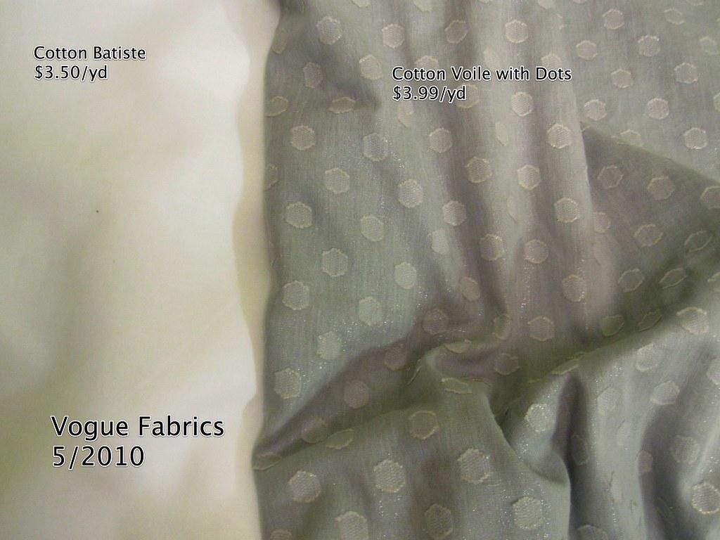 Vogue Fabrics 5-2010