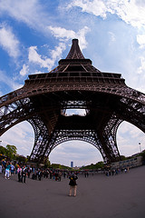 PARIS 7 (Nigel Bewley) Tags: city paris france capital eiffeltower streetphotography wideangle fisheye toureiffel capitalcity gustaveeiffel