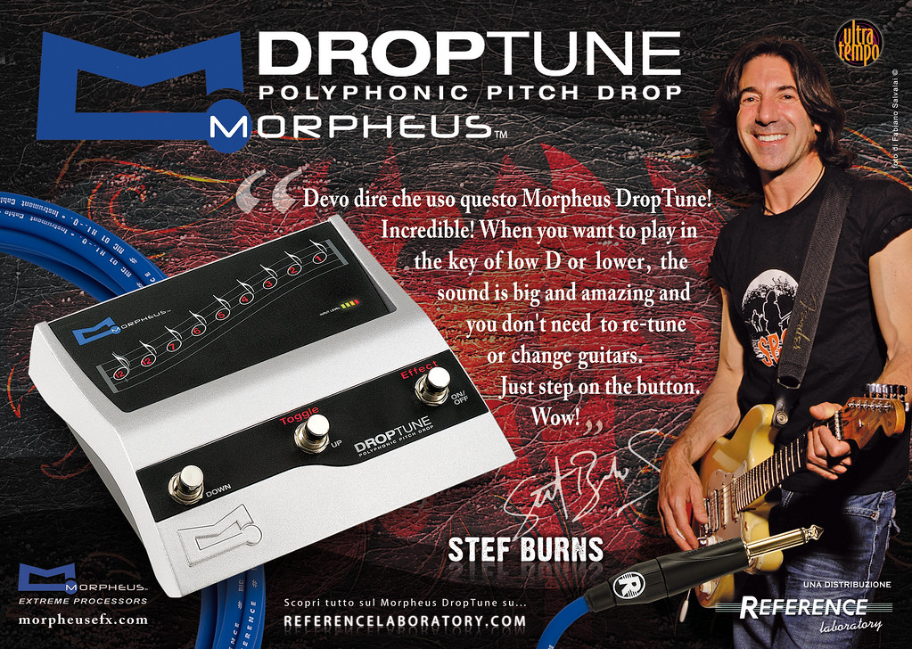 Stef Burns uses Morpheus DropTune
