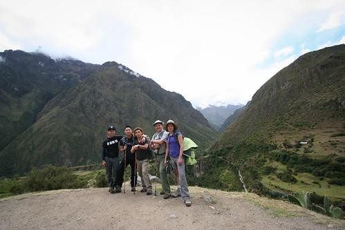 Incan Trail Hike Beginning Group Shot