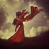 up and away (brookeshaden) Tags: girls mountain clouds spirit surreal levitation clone fineartphotography upupandaway brookeshaden texturebylesbrumes