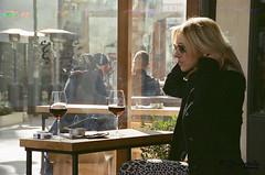 classy lady (Kostas Gourgiotis (Cost@s)) Tags: street film lady canon wine kodak smoke blonde 400asa classy kostas c41 av1 vivitar28200 gourgiotis kgour