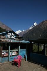 Solar shower (hkarrandjas) Tags: travel nepal vacation india trek solar 2008 annapurna himalayas annapurnabasecamp hotshower machapuchare sinuwa karrandjas