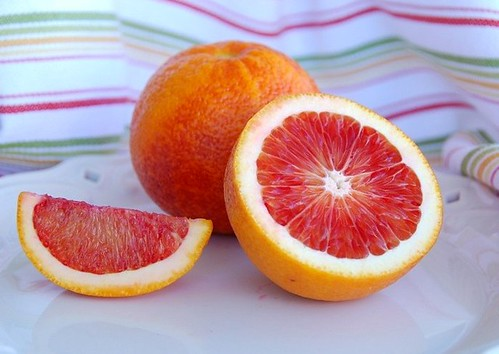 blood orange half