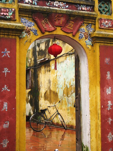 Bicycle through a doorway Hoi An, Vietnam