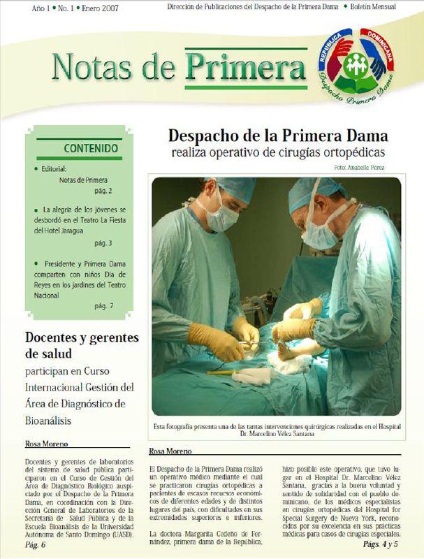 PORTADA NOTAS DE PRIMERA, Boletín DPD, foto Anabelle Pérez. ene06