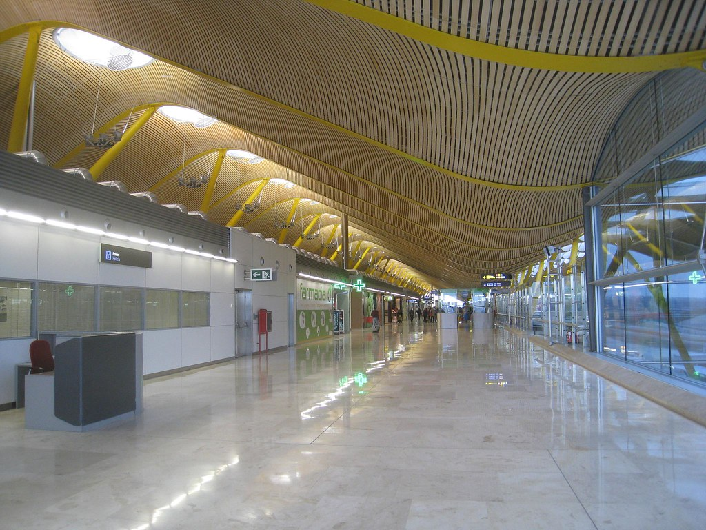 Yellow plays a prominent role in the design of the Madrid Barajas Airport