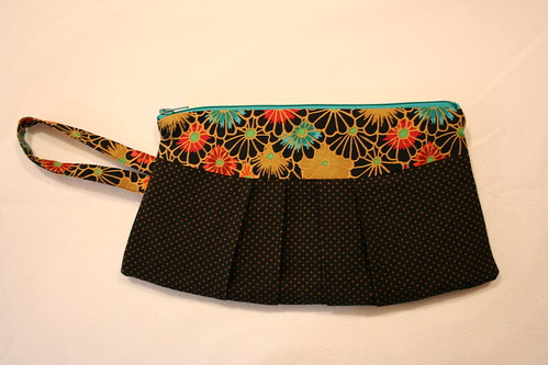 Black and Gold wristlet